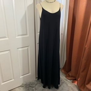 Armani exchange black maxi dress size XL long